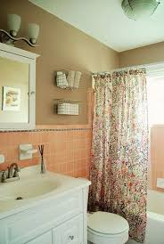 36 retro pink bathroom tile ideas and pictures salmon colored