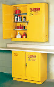 Flammable Liquid Storage Cabinet Grounding by Eagle Flammable Liquid Safety Storage Cabinet 22 Gal Yellow