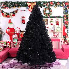 30M 300CM Black Christmas Tree Decorations Gifts Package