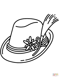 Click The Bavarian Hat Coloring Pages