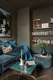 öses wohnzimmer in blau grün und bild kaufen