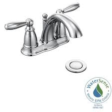 Moen Darcy Faucet Specs by Moen Darcy 4 In Centerset 2 Handle Bathroom Faucet In Chrome