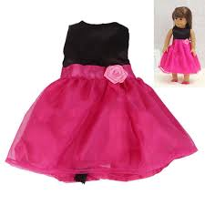 Handmade Rose Red Party Dress Skirt Clothes Gift Fits 18 American
