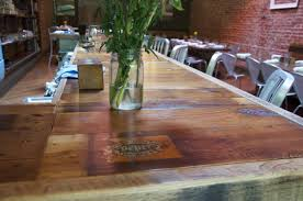 Juniper Bar Top Made Out Of Reclaimed Oak And Broken Down Pine ... The Post And Beam Pub Table Seen Here At Chattanooga Brewing 134 X 514 White Oak Bar Top Rail B005 Live Edge First Major Wood Working Project Album On Longleaf Lumber Reclaimed Bartops Historic Timber Tops Plank Wine Barrel With Hardwood Lighting Fniture Make Coffee Ice Chest Half Rack For Affordable Custom Cabinets Showroom Kitchen Breakfast Island Design Fabulous Granite Stain Steel Foot Rest