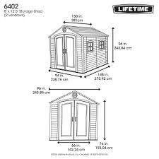 8 x 12 5 ft outdoor storage shed
