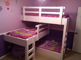 Bedroom Awesome Cool Bunk Beds For Teens Loft Bed Cute White Wooden 2 Terraced Equipped With