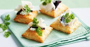 puff pastry canape ideas goats cheese and turkey puffs with quince paste recipe canapés