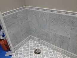 white carrara marble tile floor cool white carrara marble tile