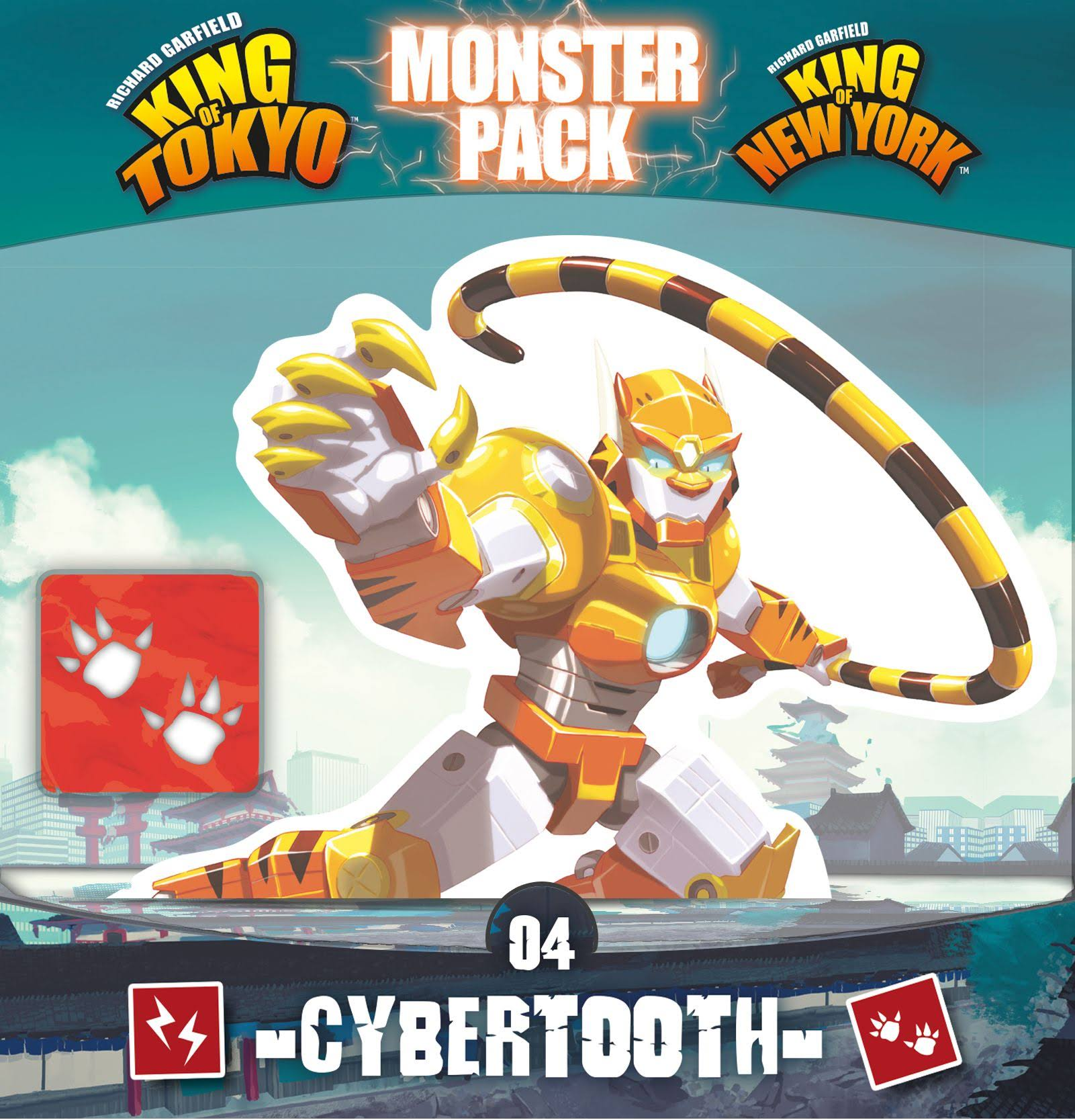 King of Tokyo and New York Cybertooth Monster Pack