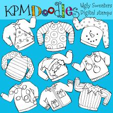 Ugly Sweaters Digital Stamps