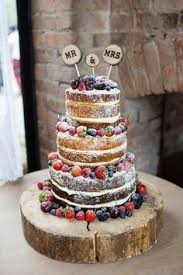 Naked Cake Sponge Fruit Layers Log Pretty Natural Floral Barn Wedding