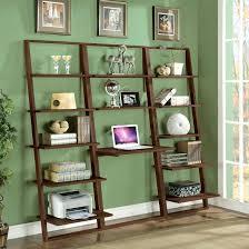 bookcase espresso leaning shelf desk leaning wall desk target
