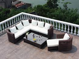 Affordable Outdoor Conversation Sets by Patio 57 Louvre Patio Furniture Drift Teak Wicker