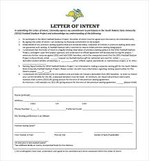 Sample National Letter of Intent 9 Free Documents in PDF Word