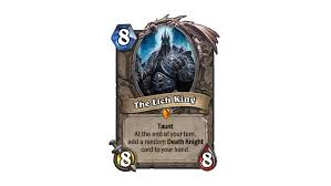 Paladin Deck Lich King by The Best Knights Of The Frozen Throne Kft Legendary Cards
