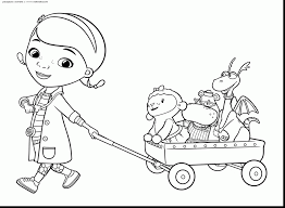 Remarkable Doc Mcstuffins Coloring Pages With And Lambie