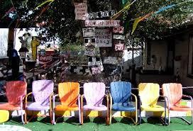 furantiquekz colorful vintage metal lawn chairs await arrival tous