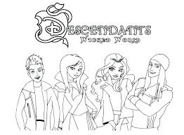 Descendants Coloring Pages Of From 2 Carlos