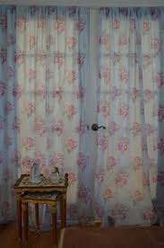 Simply Shabby Chic Curtains Pink Faux Silk by Blue Pink Rose Floral Pencil Pleat Lined Cotton Curtains Drapes 66
