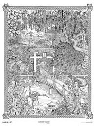 IColor Around The World Doodle Art PostersColoring BooksAdult Coloring PagesColouringJapanese GardensLine