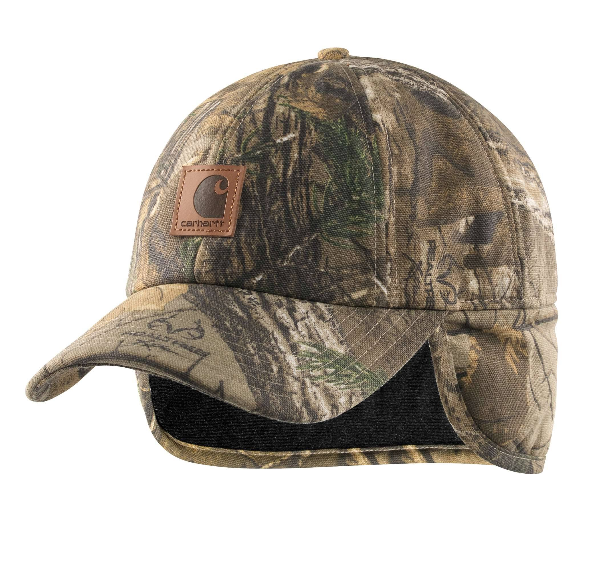 Carhartt Men's Camo Ear Flap Cap - Realtree Xtra - M/L