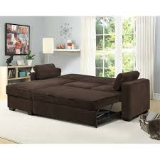 coleman bed lifestyle solutions coleman convertible sectional in chocolate