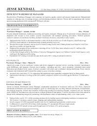 Warehouse Resume Format Samples Examples And Pdf