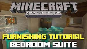 Minecraft Xbox 360 Furniture Tutorial And Ideas Bedroom Complex