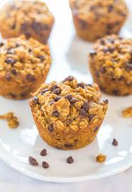 Libbys Pumpkin Muffins Calories by Oatmeal To Go Pumpkin Chocolate Chip Muffins Averie Cooks