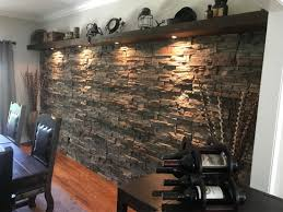 Stone Accent Wall In Dining Room