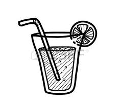juice clip art black and white 10