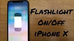 How to turn flashlight f iPhone X 8 8 Plus