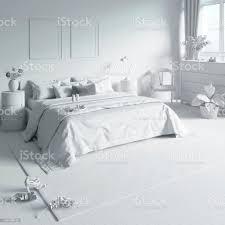 das schlafzimmer mit tablett auf dem bett in weißen computer sachen stockfoto und mehr bilder architektur