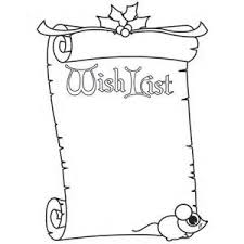 Wish List Coloring Pages