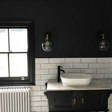 Chic All-Black Bathrooms For Inspiration - Decorating Room Grey White And Black Small Bathrooms Architectural Design Tub Colors Tile Home Pictures Wall Lowes Blue 32 Good Ideas And Pictures Of Modern Bathroom Tiles Texture Bathroom Designs Ideas For Minimalist Marble One Get All Floor Creative Decoration 20 Exquisite That Unleash The Beauty Interior Pretty Countertop 36 Extraordinary Will Inspire Some Effective Ewdinteriors 47 Flooring