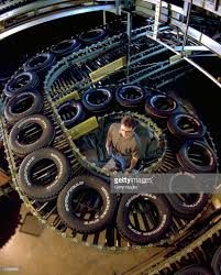 Goodyear Wrangler Light Truck Tires Move Along Automated Conveyors ...