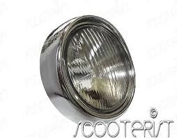 Vintage Vespa Head Light Lamp Plug Front Small Vba Vbb Super 150 125 Vm Vn Vl