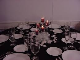 Wedding Reception Table Candle Centerpiece Idea Photo A Small Elegant Arrangement For The