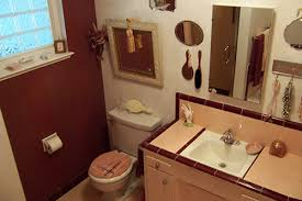 Burgundy Star Bathroom Accessories by Pink Bathrooms Archives Retro Renovation