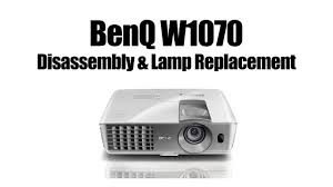 benq w1070 disassembly changing l and cleaning blower fan