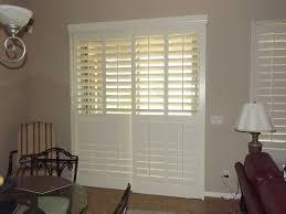Patio Door Window Treatments Ideas by Shutters Faux White Living Room Dining Sliding Door Jpg