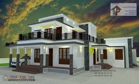 100 Box House Designs 2000 Sqft Type Kerala Plans In 2019