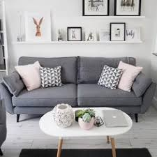 Beautiful Living Room Idea With Grey Sofa White Open Shelve And Modern Table