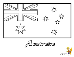 Kids Australian Flag Coloring Pages Printable And Book To Print For Free Find More Online Adults Of