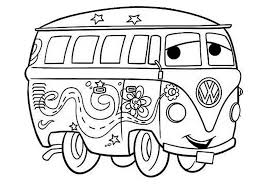 Color Page Hippie Van New Disney Cars Coloring Pages