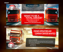 100 Truck Drivers Wanted Masculine Bold It Company Flyer Design For Iffel International By