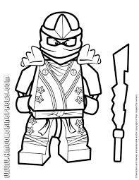Cool Lego Ninjago Kai KX Coloring Page