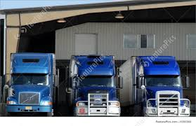 100 Blue Trucks Truck Transport At Loading Dock Stock Picture