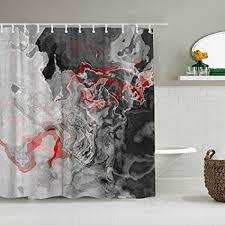aliciga duschvorhang rot schwarz grau weiß schattenland