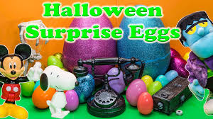 Bad Halloween Candy List by Surprise Eggs Scooby Doo Paw Patrol Spooky Halloween Candy And